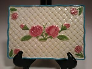 "Temptations By Tara Rose Trellis Trivet  9"" X 6""  Lattice  QVC"
