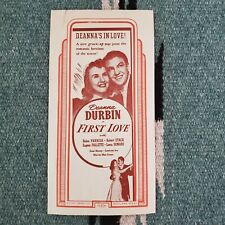 Deanna Durbin First Love Handbill 1939 Romance Film Texas 7""
