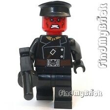BM053hg Lego Captain America - Red Skull Minifigure with Hat & Gun 76017 NEW