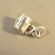 .925 Sterling Silver 3-D MEASURING CUP CHARM Pendant Bake Cook NEW 925 KT69