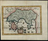Southeast Asia India Taprobana Ceylon Sri Lanka Cambodia 1661 Jansson small map