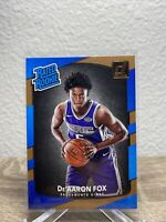 2017-18 Panini Donruss Deaaron Fox Rated Rookie #196 Rookie Card RC
