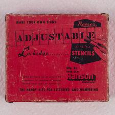 "Reese's Adjustable Lockedge Brass Stencils 2"" Gothic Letter & Number Full Set"