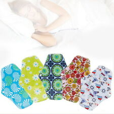 6 X Washable Cloth Menstrual Pad Sanitary Bamboo Reusable Sanitary Panty Liners