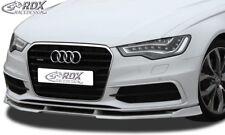RDX Spoilerlippe für Audi S6 A6 C7 Typ 4G S-Line Schwert Front Ansatz Splitter