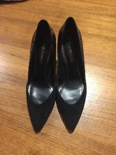 Enzo Angiolini Stunning Suede & Leather Black Heels - New - Size 10M