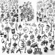 50 pcs  Wholesale Bulk Lots Tibetan Silver Mix Charm Pendants Jewelry DIY LOT