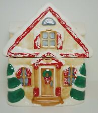 Christmas Holiday Winter Cabin Cottage Gingerbread Cookie Jar MCE EDI Sausalito