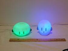 IKEA Spoka Spöka Blue & Green Color Kid Night Light Up Ghost w/ Charger Complete
