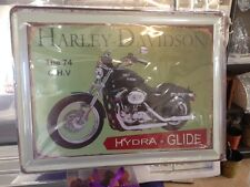 Vintage Metal Wall Harley Davidson Motorcycle wall sign 40cm ' 74 O.H.V '