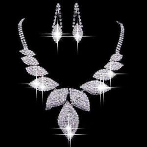 STUNNING BRIDAL/WEDDING  CRYSTAL /DIAMANTE NECKLACE SET 142