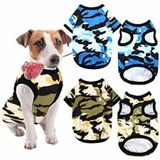 Clysee 4 Dog Clothes Camo Shirts Pet Costume Clothes Dog Camouflage Print Ves.