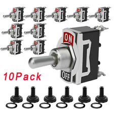 10pcs 12v Heavy Duty Toggle Flick Switch Onoff Car Dash Light Metal Spst New