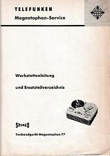 Service Manual-Anleitung für Telefunken Magnetophon 77