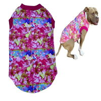 Large Dog T Shirt Cotton Hot Pink 2XL 3XL 4XL - Allergy Protect Staffy Clothes