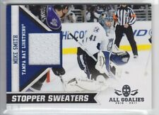2010-11 PANINI ALL GOALIES MIKE SMITH JERSEY STOPPER SWEATERS GAME USE Lightning