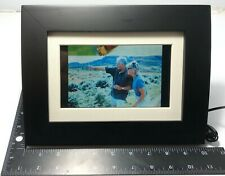 7-Inch Digital Picture Frame 16MB Memory Matte Black Wood Frame 16:9