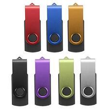 Flash Memory 1/2/4/8GB USB 2.0 Metal Stick Pen Drive Storage Thumb U Swivel Disk