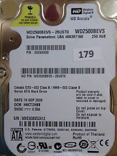 250gb Western Digital WD 2500 BEVS - 26ust0 | DCM: hhct 2hbb | 19 SEP 2008 | #179