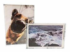Yanxuan 5x7 Acrylic Magnetic Picture Frame, Stable Tabletop Double Sided Photo