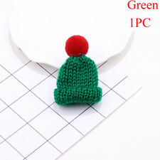 Knitted Hat Hairball 5pcs Sweater Mini Brooch Pins Jacket Collar Badge Jewelry Green(1pc)