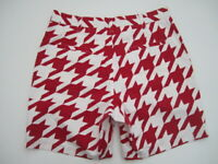 Mens size 34 Loudmouth Golf white red houdstooth shorts *See desc