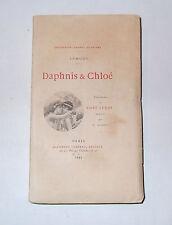 Daphnis & Chloe.Longus.Collection Lemerre.L'un des 20 Exs sur Chine.Paul Leroy.