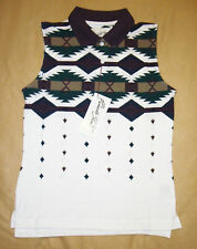 Panhandle Slim Womens Western Sleeveless Polo Small NWT.
