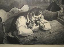 "Mervin Jules 1945 Litho ""Watch Repair"" Social Realist Print Listed Artist"