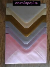 C6 Pearlescent / Metallic Invitation Envelopes A6 Wedding Card Invites FREE P&P!