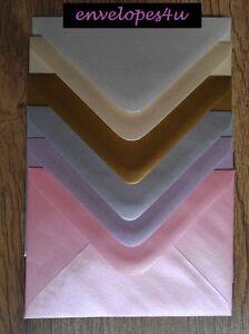 C6 Pearlescent / Metallic Invitation Envelopes A6 Wedding Card Invites FREE P&P!