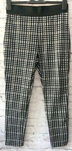 Ex M&S Black & White Gingham Treggings Leggings Size 12S *NEW* RRP £25 (95)