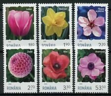 Romania Flowers Stamps 2020 MNH Definitives Daffodils Tulips Dahlias 6v Set