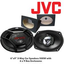 "JVC CS-DR6930 6""x9"" 3-Way Car Speakers 500W with 6 x 9 Box Enclosures"