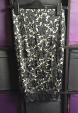 BN Black Lace Lipsy Pencil Skirt 8