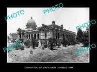 OLD 8x6 HISTORIC PHOTO OF GOULBURN NSW VIEW OF THE COURT HOUSE c1890