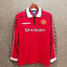 Retro Manchester United Home Soccer Jersey 1998/1999 BECKHAM #7 Football Shirt