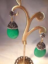 Pendientes piedra natural color verde