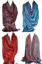 cachemire imprimé ethnique pashmina touché châle enveloppant écharpe foulard en