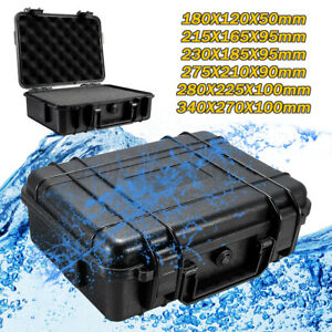 Waterproof Hard Plastic Carry Case Tools Storage Box Portable Organizer & Foam ~