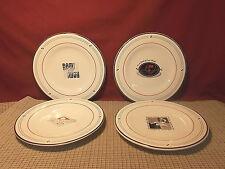 "Emeril Dinnerware 4 Piece Salad Dessert Plate Set 8"""