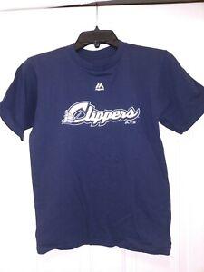 Minor League Baseball Columbus Clippers #10 T-shirt Boys Medium Blue