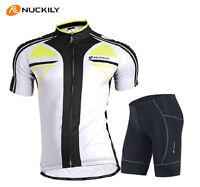 Mens Bicycle Jersey Bike Clothing Padded Shorts Cycling Wear Uniforms Size M-XXL