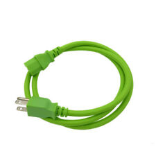 Green 4 FT COMPUTER POWER SUPPLY AC CORD CABLE WIRE FOR HP DELL ACER DESKTOP PC