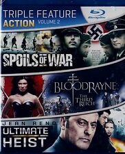 BRAND NEW BLU-RAY TRIPLE FEATURE //  BLOODRAYNE & ULTIMATE HEIST & SPOILS OF WAR