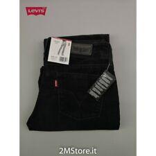 LEVI'S jeans LEVIS 570 STRAIGHT FIT VITA BASSA donna VELLUTO NERO ORIGINALI NUOV