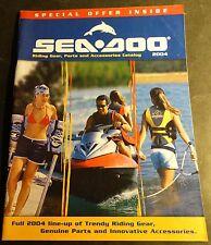 2004 SEA DOO PARTS, ACCESSORIES, AND RIDING GEAR SALES CATALOG BROCHURE (314)