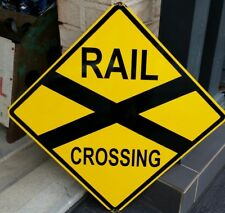 RAILWAY CROSSING ENAMEL SIGN (MADE TO ORDER) #04#