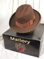 1eacd7837fb Vintage Mallory  Twelve Fifty  Classic Brownn Rose Homburg Fedora Hat ...