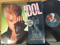 "Billy Idol – Flesh For Fantasy 12"" Vinyl With Poster"
